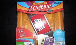All games work and have all there peices, cards and dice. There in great condition. Only played a couple times. Scrabble Turbo Slam - Excellent condition, only played once. Great game. I just have no one play it with. - 25$ Snakes And Ladders Tin - Great