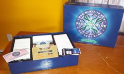 Who Wants To Be A Millionaire $5 Set of Poker Chips with holding stand $5 Not missing any pieces. Boards in great shape