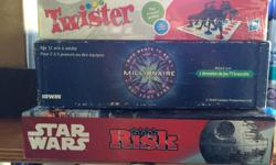 $2/ game Twister (sealed) Who Wants to Be a Millionaire Star Wars Risk **take all for $5