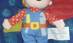 perfect christmas gift and soo hard to find! talking Bob the Builder toy soft bodied so can be taken to bed with your child. with new batteries. asking $20 located in kemptville, or delivery for the price of as within an hour of kemptville.