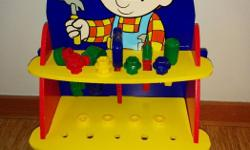 Complete and in excellent condition wooden Bob The Builder Workbench.