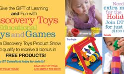 Hi Friends! I have decided to start my own business with the help of Discovery Toys! Why not consider Discovery toys for your next gift idea and make a selection from our catalogue of educational toys and games! There is something for every age from