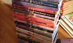 Pony Club - hardcover - 11 books $15 Babysitter Club - softcover - 24 books $15 Watershipdown - hardcover - 6 books - $5 Dinsey princess - hardcover - 13 books - $15 Animal Arc - softcover - 13 books -$10 Unicorn - softcover - 5 books $5 Diary of a Wimpy