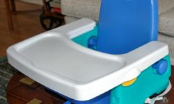 """""""The First Years"""" adjustable seat height BOOSTER SEAT with REMOVABLE TRAY."""