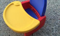 Multi colour booster seat, with removable swing away tray. Posted on other sites.