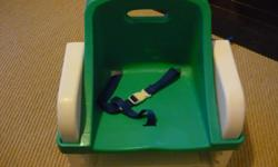 Booster Seat Keep them tall and safe at the dinner table. Please note that there is no tray for this booster seat. Located in Barrhaven