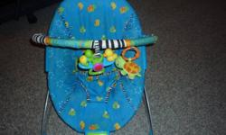 great condition - only used a few months.  baby was active and wouldn't sit in it for too long.   It has music.