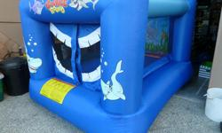 Very good condition, ok for 3-4 9year olds at once, Inflates under 1 minute, Failsafe electric motor. Great for birthdays etc.