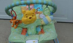 I have a winnie the pooh bouncy chair for sale, in excellent condition. Asking $10.00 firm. Thanks