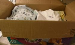Size 0-3 month BABY BOY clothing for sale There are sleepers, bunting bags, Onesies, and a few other articles of clothing in this box Freshly washed, folded, placed in box with dryer sheet $15 O.B.O. Smoke & pet-free home First one takes it...Box #1