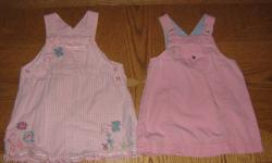 An assortment of 6 dresses, 19 cute outfits, 9 onesies (2 long-sleeved), 8 t-shirts, 2 swimsuits and 2 sunhats from a wide variety of brands like Tommy Hilfiger, Old Navy, Disney, Children's Place, Nevada, Rascals, Vitamins, Kloz for Kids, Sears Baby,