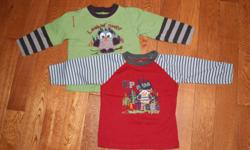 BOYS 18-24  Months Clothes   2 CHEROKEE Shirts- 18-24 months, not sure that these were ever worn, perfect condition 2 THOMAS THE TRAIN Shirts - 2T Pair of JOE Striped PJs - 2T (wash wear)   $6 for ALL