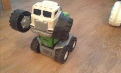All in good condition stinky interactive garbage truck 20$ 2 big little tikes trucks 15$ both green lantern, transformers 10$ smurfs are sold neurf guns and bunch toys 10$ bunch of toys Thomas,garage 5$-10$ each Barbie s frozen,monster high,ship 50$ all