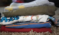 I am selling some clothes for the fall/winter.     There are pants, overalls, t-shirts, and a sweater and vest.     I love in Roslin (1o minutes north of Belleville), but can drop off in Belleville if I am already planning a trip in.