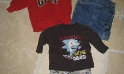 I have some boys cloths for sale ranging from 3m-24m brands such as Gap, Tommy Hilfigure, Old Navy Childrens Place, Cherokee, Roots, Sears Baby, Carters & More. Pictures are in size order. Make an offer if interested if you need a particular on any item