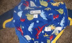 Like new not a mark on it. Lined with dinosour print fleece on the inside. very warm but not bulky. Price is firm.
