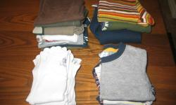 Boys Fall and Winter Clothing Lot $50 Sizes 12-18 month - mostly 18-24 months Clothing worn by a November baby   Still in great wearable shape - some fading, wear and stains Good quality clothing - decent brands Perfect for a boy - Perfect for playing   -