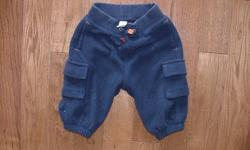 For Sale: Boys Navy Blue Fleece Cargo Pants from the Gap. Size 3-6 months. Asking $5.00. Contact Laura at 519 680 0835. Please check out my other ads.
