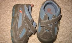 Blue and brown baby bum runners size 3 $3.00 Leather size 4 blue dress shoe in brand new condition.$5.00 Baby Gap lace up blue runners size 3 $3.00 Blue soft sandals size 4 $3.00 Green baby gap sandals size 3 $4.00 From a smoke and pet free home.
