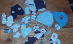 Several sleepers, socks, hats, and shirts. All boys; good condition-smoke free/pet free home. $10 for the lot