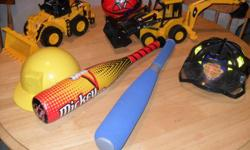 Cat trucks, dinasours, bats, balls, books, etc... alll for 10.00   check out my other ads!