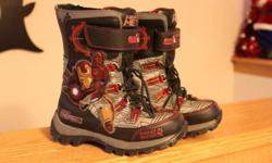 I have for sale a pair of boys Iron Man winter boots, size 11! Used condition.