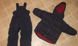 Boys Winter Snow Suit - my little guy wore both of these together until he was just over 3 years old.  He was a little on the shorter size, so these worked great for him.   Jacket Size 3T (arms - 8 inch inseam) from the Gap - very warm fleece   Pants Size