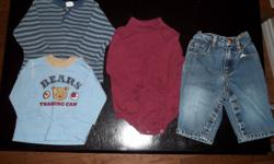 I am selling a little boy?s brand name clothing lot consisting of sizes 6-12 months. All clothes are priced individually for anyone who wants a specific item, but I would prefer to sell them as a lot. Everything is in excellent ?brand new? condition with