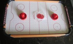 Im selling a brand new table top air hockey table new condition asking $20 all pieces are with it contact me mailto:nancy.pynn3@gmail.com or call 709 573 1718 pick up only located in victoria next to carbonear