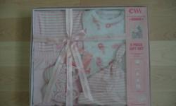 Pic 1: 5-piece baby girl gift set (0-3 months), $12   Pic 2: 2-piece baby girl outfit (6-9 months) $8   Pic 3: Children's Place (3-6 months) and CK (6-9 months) baby girl clothes, $32 for all   If interested, pls email me. Pick up only (John/Leslie)