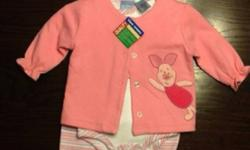 Brand new with tags. Size 6 month piglet onesie, jacket and pants. Great Christmas gift. This ad was posted with the Kijiji Classifieds app.