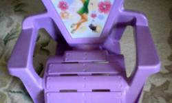 Decorate your girl's room with the Disney Tinker Bell chair. This TinkerBell Disney chair will add fun and decor to your princess's room. Your princess will feel the luxury by sitting on this comfy relaxing chair. High back super comfortable, provides