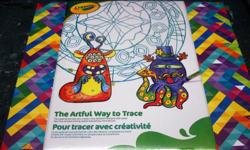 I have a Brand New Crayola Tracing Set for sale! This is in excellent condition and would look great in your child's room or to give as a gift. Comes from a non-smoking household. Do not miss out on this excellent opportunity to get this for a fraction of