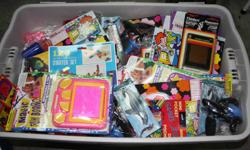 Dollar Store type toys - Brand new in original packaging. There are 210 assorted toys, some of which are photographed. $50.00 for the lot, which works out to .23 each. I will sell half the lot for $25.00. Great for goodie bags, bazaars, etc....