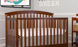 Brand New Dream On Me Eden 5 in 1 Convertible Crib - Espresso Features: Converts toddler bed, daybed, bed (Bed rails and full size mattress not included) Comes with non drop side rail system, 2 position mattress support Made of Pinewood, Non-toxic finish
