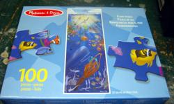 I have a Brand New Melissa & Doug Aquarium 100 Piece Floor Puzzle for sale! This is in excellent condition and would look great in your child's room or to give as a gift. Comes from a non-smoking household. Do not miss out on this excellent opportunity to