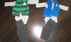 All are brand new, never worn outfits/sleeper set   Carters 3 piece outfits 3mth, 6mth $8ea or both for $15   Cars 4 piece outfit 3-6mth $12   Sears sleeper 5 piece set 6mth $12   I also have a brand new 8 piece set 3-6mth  - sleeper, hat, booties, mits,