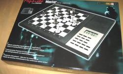 I bought this chess computer at the spur of the moment. But I don't want it! This is a newly-bought, Brand New, Unused, Unopened (except for pics) Chess Master computer chess game!   I paid $301 for this beauty. You get to walk up and buy it at 1/3 the