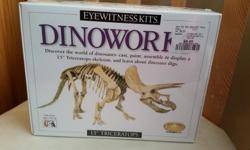 """Received as a gift, still sealed and ready to cast, paint, assemble and display. 15"""" Triceratops."""