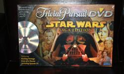 Never been opened Trivial Pursuit DVD Star Wars Saga Edition board game.