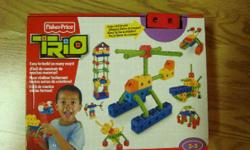 I have a Brand New Trio Lego Set Ages 3-5 for sale! This is in excellent condition and would look great in your child's room or to give as a gift. Retails for $35 in stores so this is a great deal. Comes from a non-smoking household. Do not miss out on