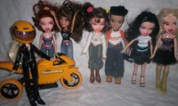 BRATZ DOLLS LOTS OF ACCESSORIES LIKE NEW   WILL SELL AS A LOT OR SINGLES.   CALL 905 397-7570   CHECK OUT MY OTHER ADS PLEASE