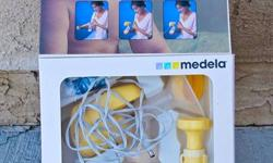 Medela. Only used for a few months. Still have box with $109.00 price on it. Will include a bunch of accessories too.   See website for details on this pump...   http://www.medelabreastfeedingus.com/products/breast-pumps/173/single-deluxe-breastpump