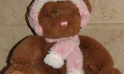 Super SOFT Furry Bear Plush Toy Stitched on Pink Hat & Scarf 2009 & Breast Cancer Symbol on feet $3.50 . From a smoke free Home (not a store). All my 400+ items ARE available if still listed. Email to arrange an afternoon/evenings pick up time. See Kijiji