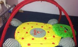 I have for sale a bug activity mat. My little girl loved this! She spent hours lying down playing with hanging toys. Thank You, Carrie 519-688-5297 All money raised is going to my family fund of help Mommy buy a double stroller. LOL This ad was posted