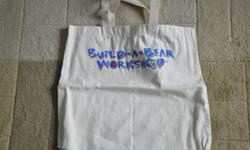 """Various Build-A-Bear Workshop Bags   Most of the bags listed were only available for BABW Managers and they are all new/never used   Beige Canvas Bag (16"""" W x 15"""" H - only 300 made worldwide) - $5.00   Black Backpack (12"""" W x 17"""" H) - $15.00   I am"""