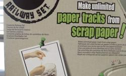 Go Green! Make your own Rail Way!  un-opened. comes from smoke free home. $25.00