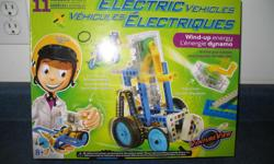 Kids building set with motorized component
