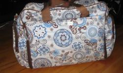 """For Sale is a gently used """"starry sky"""" Natalie bag from the Bumble Collection.  Great for all day outings or if you have more than one in diapers. It's features:   * Two insulated side bottle pockets   * Machine washable   *water resistant   *stain"""