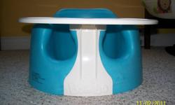 Light blue Bumbo chair with detachable play tray. Practically brand new, used only a couple of times!  Great deal........much less than half of store price!!!!!!